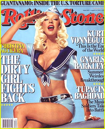 Christina aguilera Rolling Stone 2006 Agosto