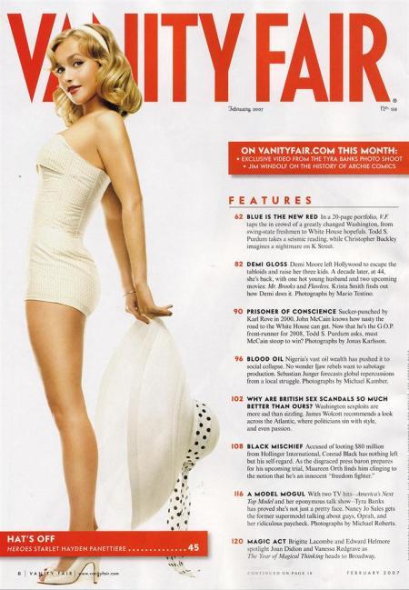 Hayden Panettiere vanity