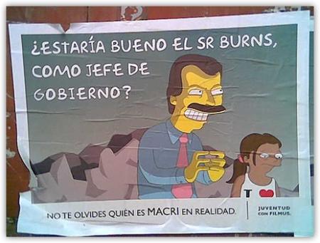 Macri Burns afiche